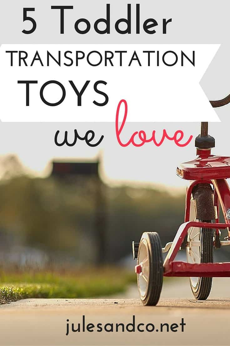Transportation themed toys are a favorite at our house! Can it zoom, race, or crash? We're sold! Take a peek at my favorite transportation toys for toddlers. These toy trucks, cars, and vehicles are perfect for imaginary play, sensory play, and plain old fun!
