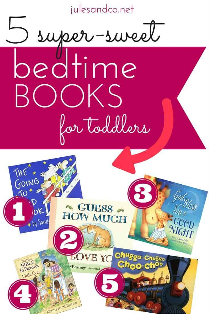 Looking for a few super-sweet options for your toddler's bedtime book? Try these five classic bedtime books for toddlers! My little guy loves these board books, and they really do help him fall asleep at night!
