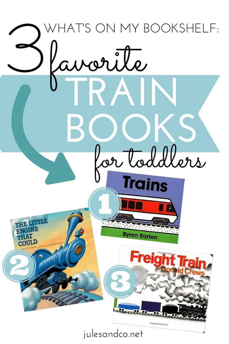 Do you have a train-lover in your home? My little guy can't get enough of trains. I love using his passion for trains to get him excited about reading! Here are three of our tried-and--true, must read 100+ times, absolute favorite train themed board books. These children's books are essential for the bookshelf of any little engineer!