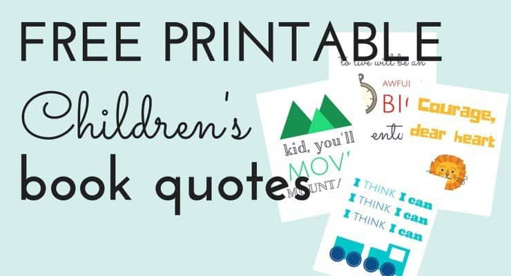 Free Printable Children's Book Quotes