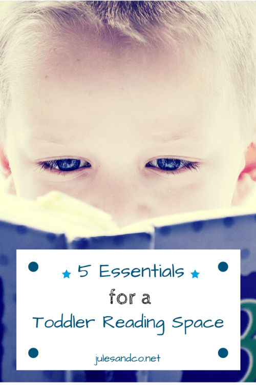 5 Essentials for a Toddler Reading Space   Create the perfect book nook for your child with these 5 easy steps!   julesandco.net