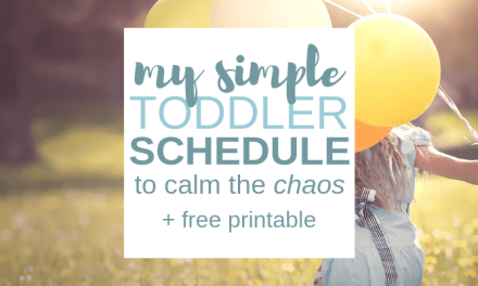 My Simple Daily Toddler Schedule to Calm the Chaos