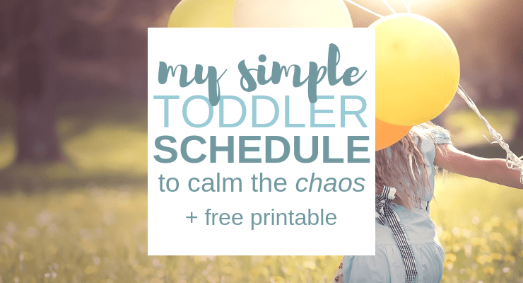 daily toddler schedule for the stay at home mom