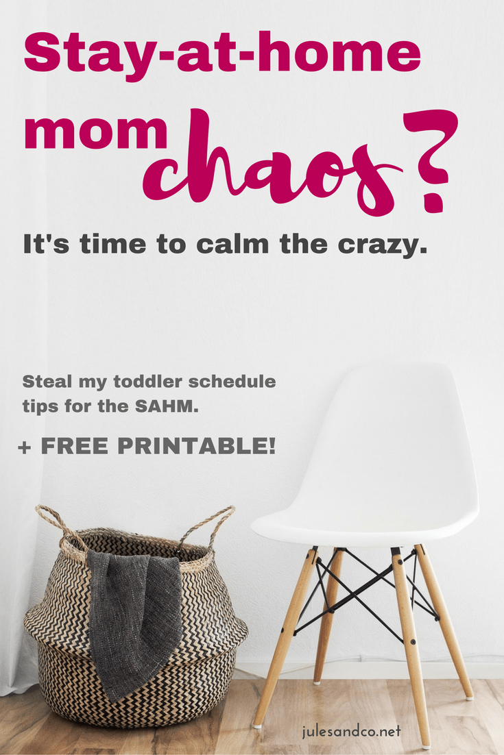 Do you find yourself at the end of the day with a cranky, tired toddler, and not one thing checked off of your to-do list? You, my friend are in need of a schedule! Read my tips on how to make a toddler schedule that works, plus grab a free printable to get a head start! It's time to calm the crazy, let's do it!