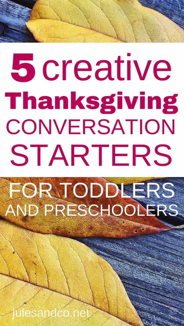 Use these Thanksgiving conversation starters to connect with your family around the table this Thanksgiving. Each of these Thanksgiving questions for kids will help your child focus their heart on gratitude. Read on for five creative questions to ask your family this season!