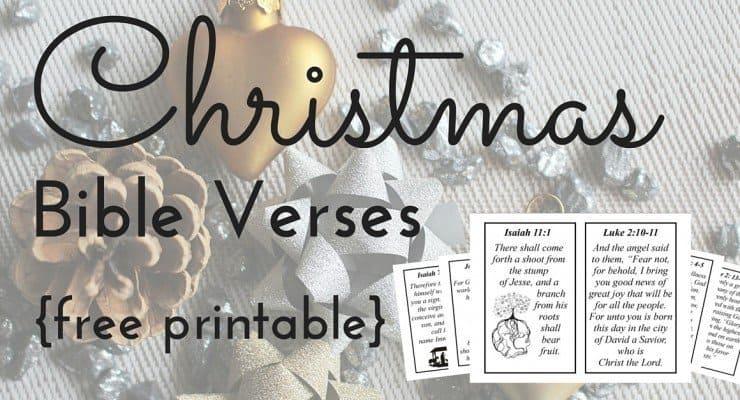 10 Christmas Bible Verses {Free Printable!}
