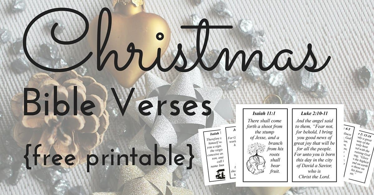 Marvelous 10 Christmas Bible Verses {Free Printable!}