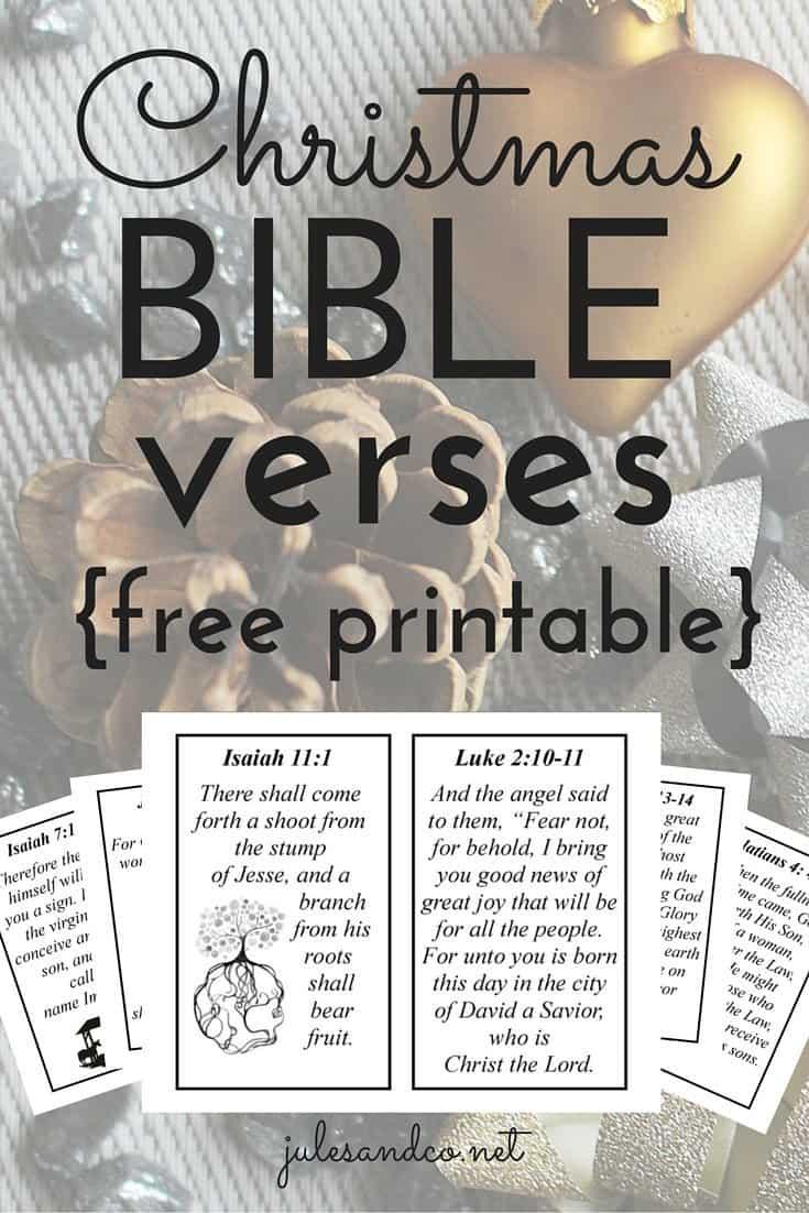 10 Christmas Bible Verses {Free Printable!}  Jules & Co
