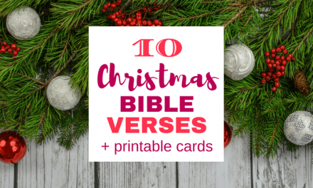 10 Christmas Bible Verses (Printable Cards) with Conversation Starters for Kids!