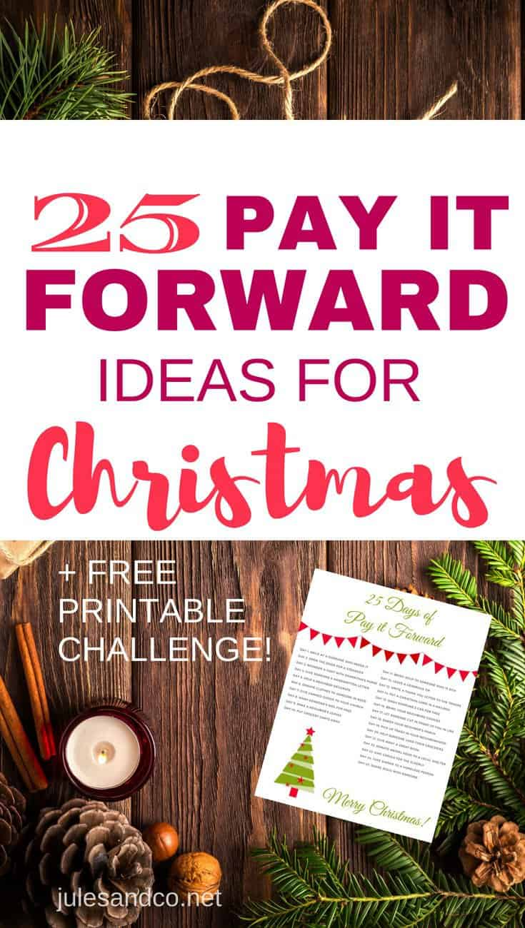 Make this Christmas a season of real giving with your children! Your family will love these pay it forward ideas for Christmas, and the best part is that even young kids can help out and get in the giving spirit! Grab your free printable and get started paying kindness forward this holiday season.