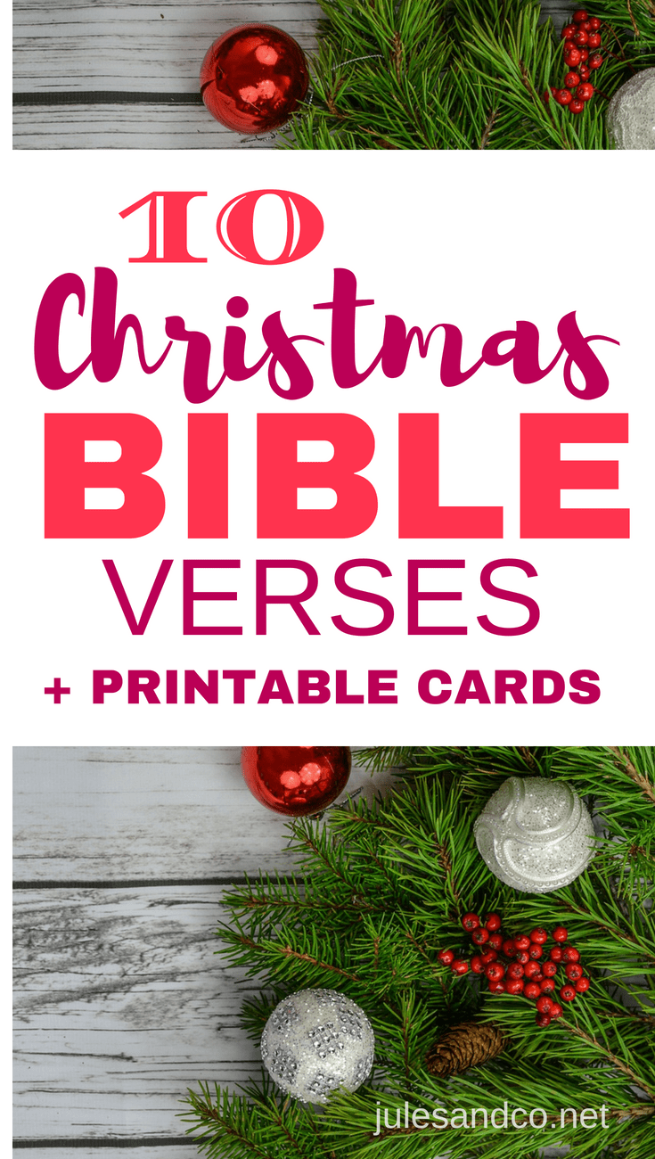 10 Christmas Bible Verses (Printable Cards) with Conversation ...
