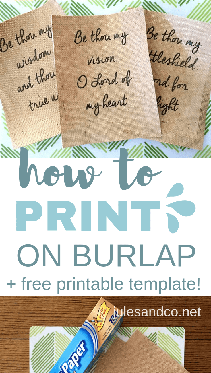 Make your own DIY burlap signs! I've got an easy tutorial to show you how to print on burlap. The possibilities are endless... make your own DIY printed burlap art, burlap pillowcases, and more!