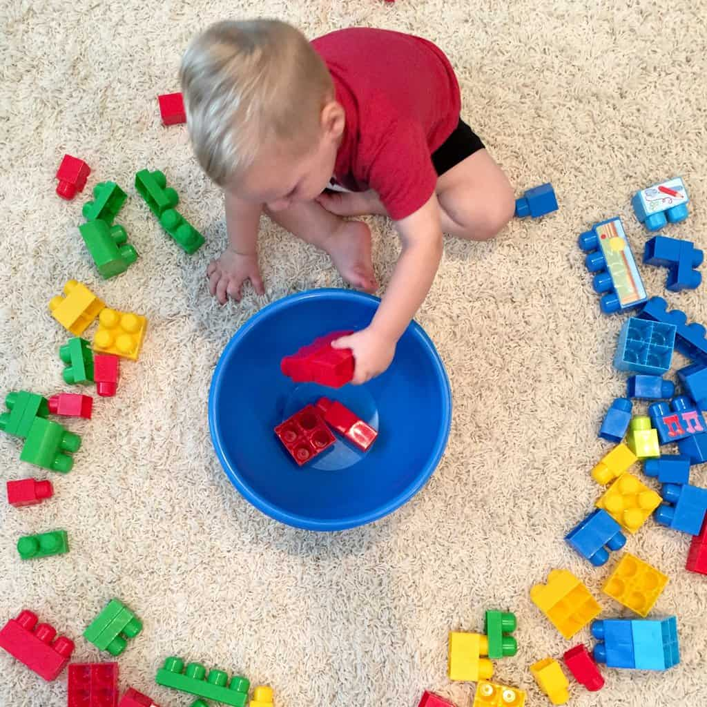 3 Hands On Games to Teach Colors with Mega Bloks | Jules & Co