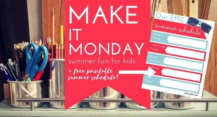 Make it Monday: 10 Stunning Ideas for Kids + Free Printable!