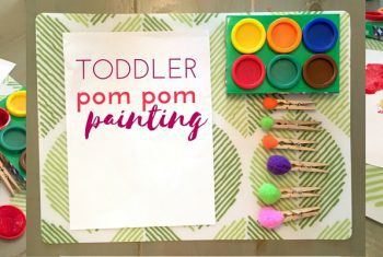 Invitation to Paint: Toddler Pom Pom Painting