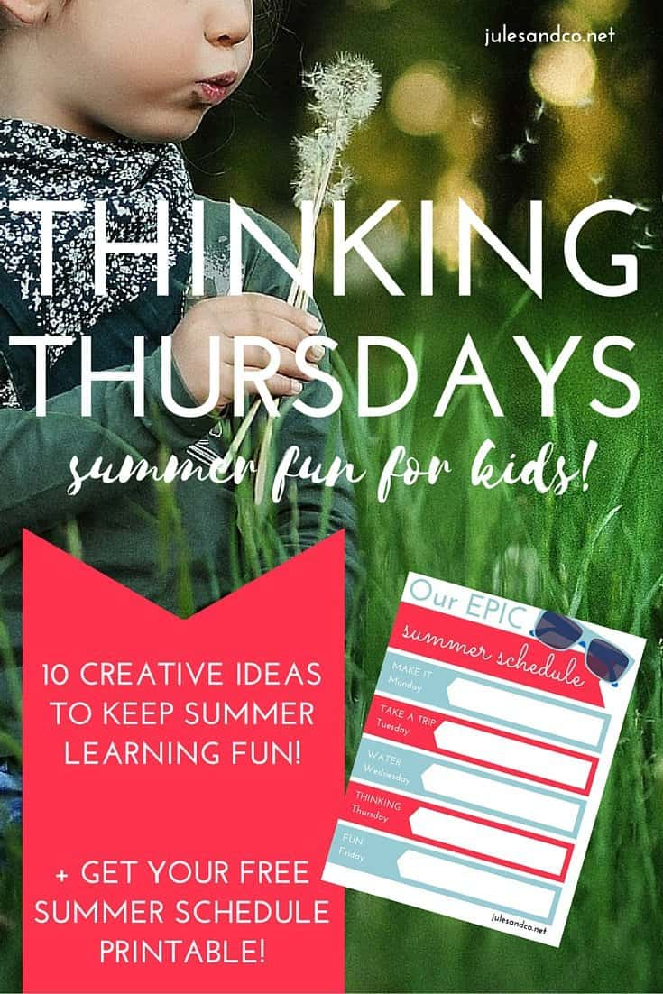 Who says kids can't learn on summer vacation? Click through to get your free printable summer schedule! Fight the summer learning slump with 10 creative summer learning activities and ideas for kids. Download the free PDF weekly planner for your kids now!