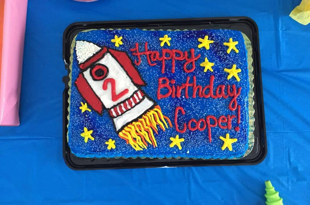 Happy Birthday! Cooper loved his rocket cake!
