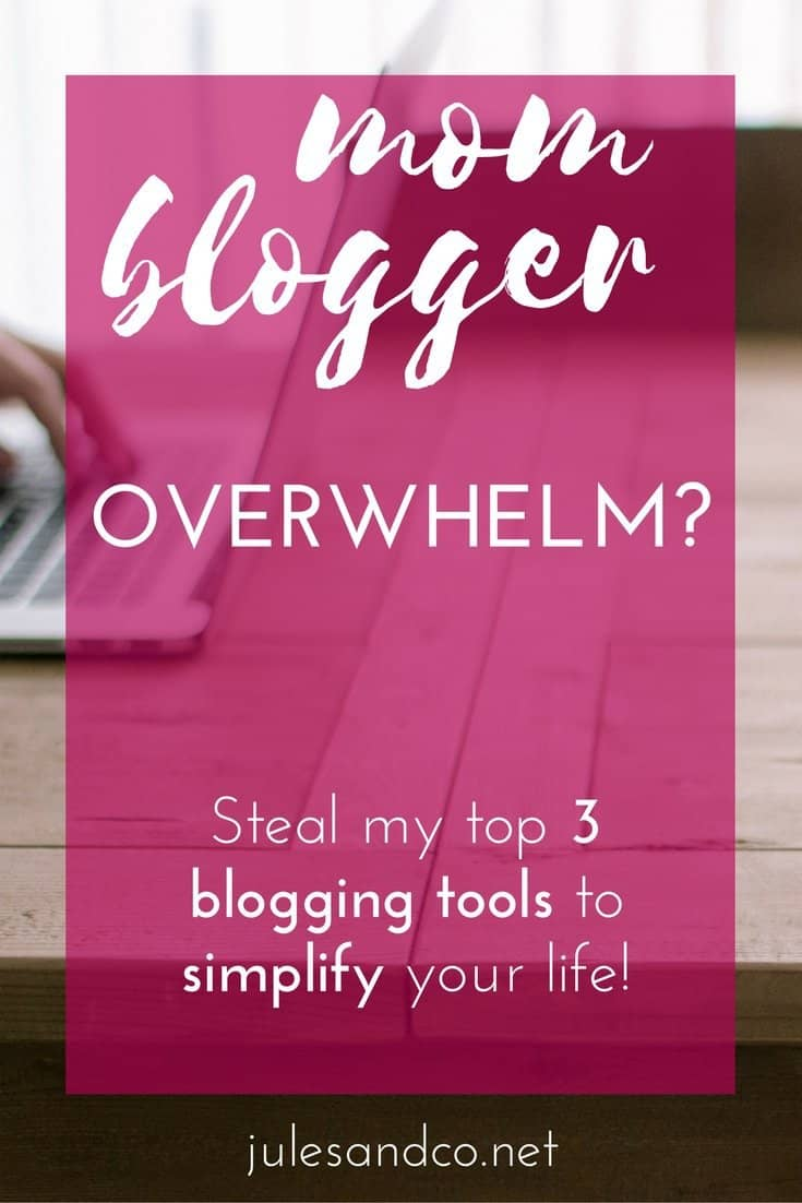 Running yourself ragged blogging and trying to juggle a family at the same time? Steal my three favorite blogging tools that I use to simplify my blogging to-do list, save massive amounts of time, and blog stress-free. Run a blog you love and live life with the family you love! Click through to steal my mom-blogger secret weapons!