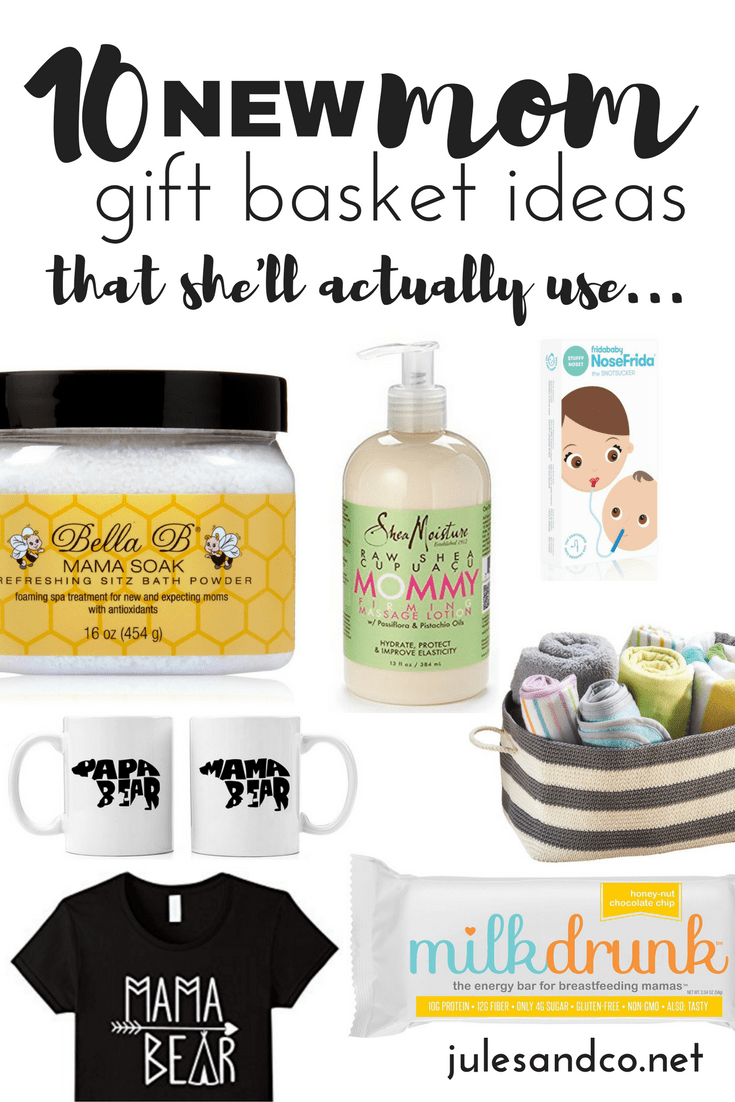 Give a basket of encouragement to a new mama! We can't do motherhood alone. Do it together with these hand-picked gifts for new moms that she'll actually use. Get inspired and shop here!