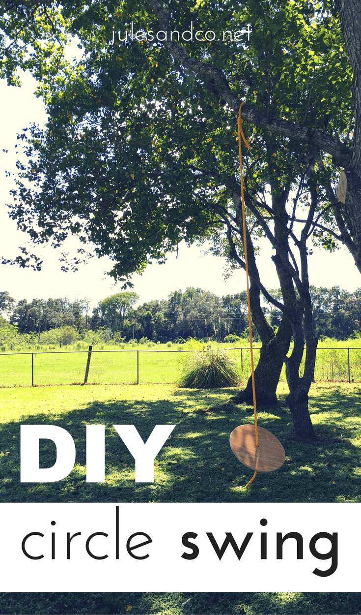 Looking for an easy DIY backyard project? Add a circle to a rope swing to create an instant fun zone for kids or adults. Make a circle swing for your own yard in a few easy steps.
