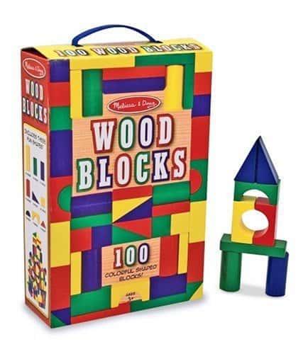 Melissa and Doug Wood Blocks 100 Piece Set