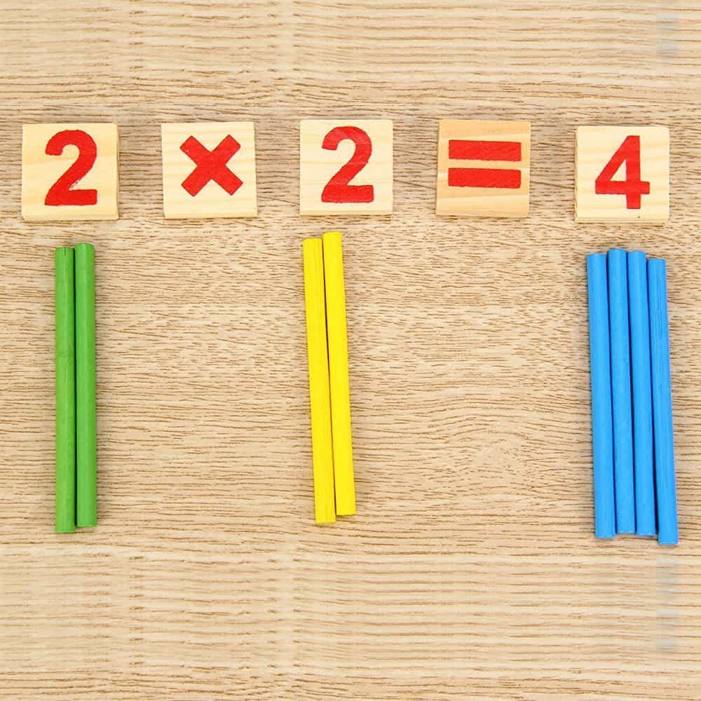 Montessori Counting Math Eduction Number Tiles and Rods | julesandco.net