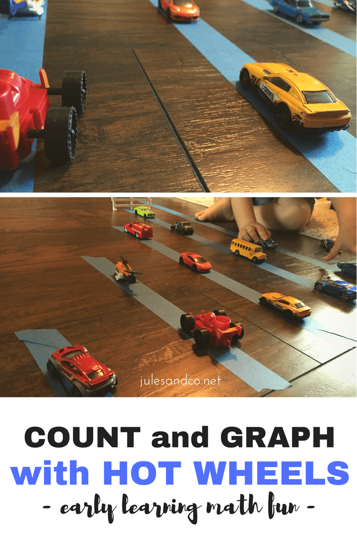 Set up this super easy hot wheels cars math activity for your toddler! Math for toddler and preschooler boys should be FUN, click through for my tips and tricks on getting the most out of this early learning number activity.