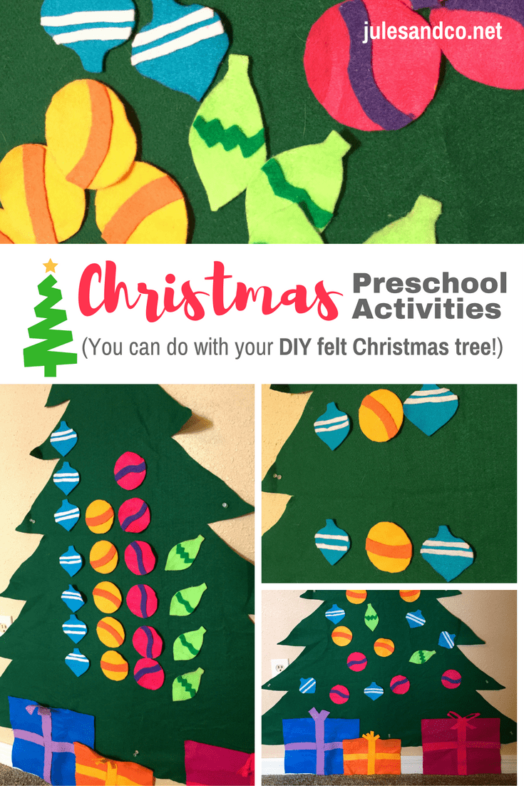 so you made one of those diy felt christmas trees for kids right