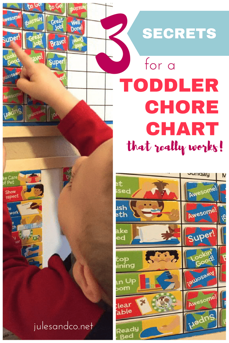 Looking to create a chore system for your toddler or preschooler? Toddler chore charts shouldn't add up to one more chore for mama, right? Learn these three secrets to creating the perfect chore chart system for your toddler or preschooler. I'll walk you step-by-step what works for our family, and give you our favorite resources for making managing chore charts easy!