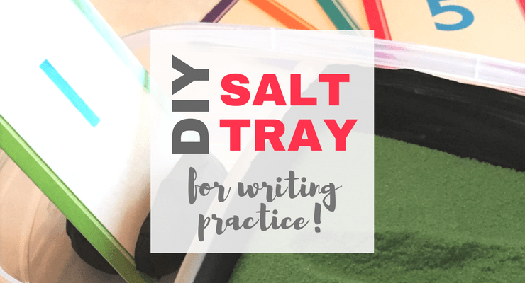 DIY Salt Writing Tray for Preschool Fine Motor Activities