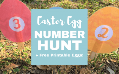 Preschool Easter Egg Number Hunt (+ Free Printable!)