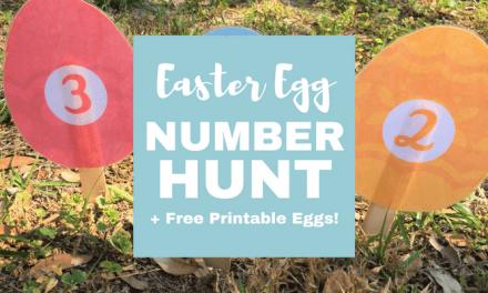 Preschool Easter Egg Number Hunt (+ Free Printable!)