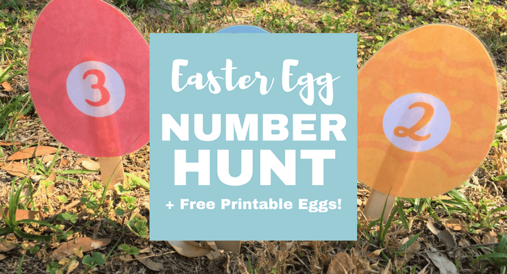 Preschool Easter Egg Number Hunt (+ Free Printable!) | Jules & Co