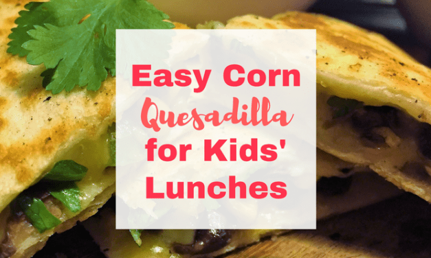 Easy Quesadilla for Kids' Lunches