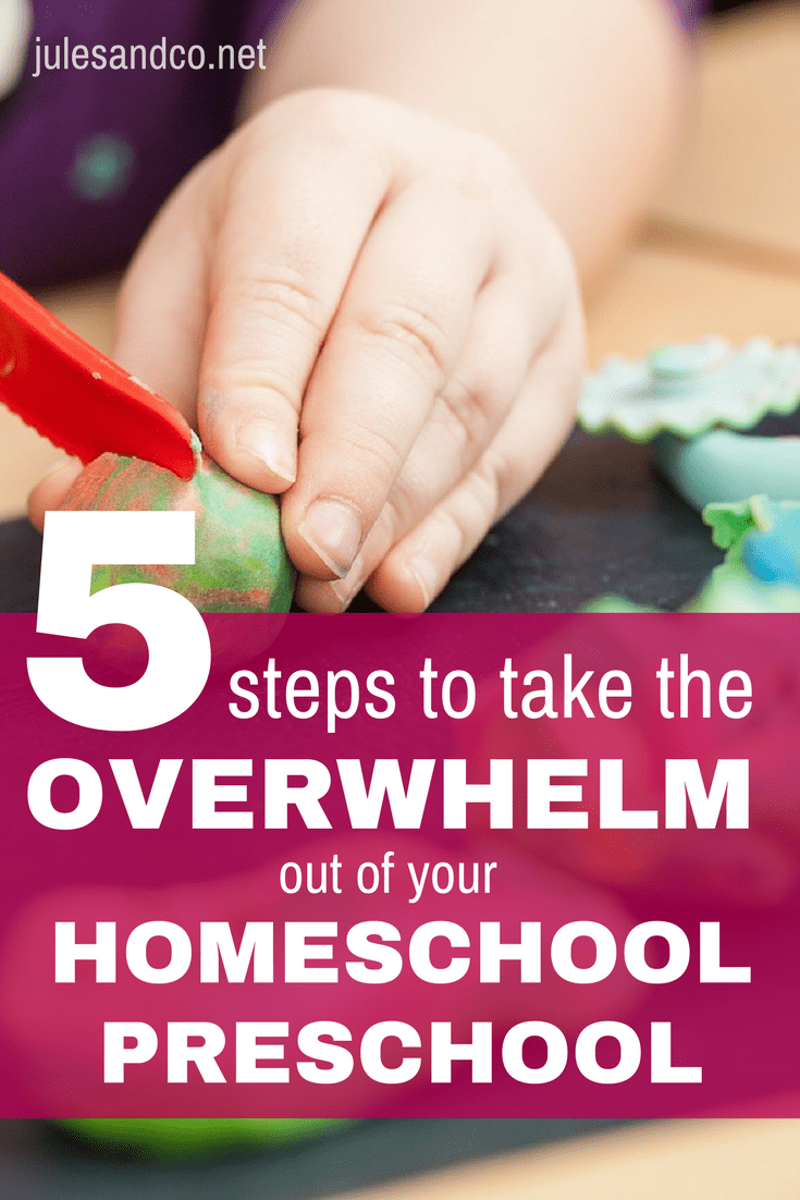 Are you swimming in questions? Drowning in decisions when it comes to homeschool preschool? Learn how to teach your toddler or preschooler at home with these five simple steps to take the overwhelm out of your homeschool preschool. Plus, discover the ultimate resource that will put you miles ahead as you tackle each step!