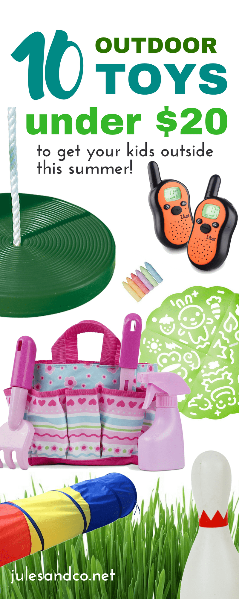 Make this summer one to remember! Get your family outside with these affordable summer outdoor toys for kids. Your kids will love these outside activities this summer! Click through for my top frugal finds!