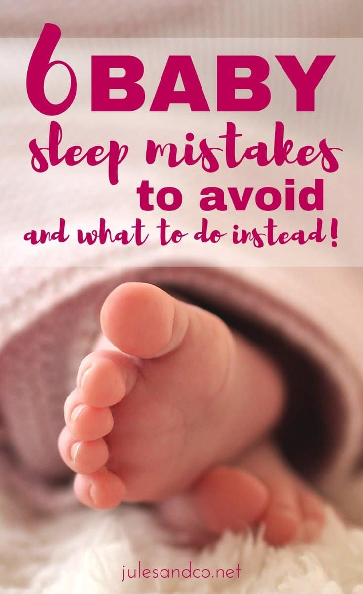 Struggling with bad baby sleep habits? I did everything wrong with my first baby, and now I've got a game plan with solid baby sleep tips for my second child. Learn from my mistakes, mama! Which of these baby sleep mistakes are you making?
