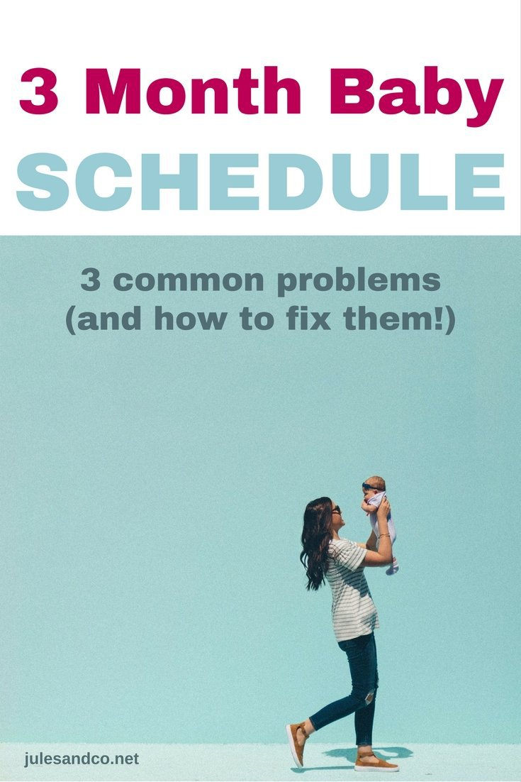 Struggling with your three month baby schedule? Getting your baby on a schedule can be frustrating. Try these baby schedule tips to help you solve three common problems that mess up your baby's routine.