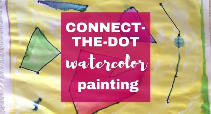 Watercolor for Kids: Connect-the-Dots Preschool Watercolor Painting