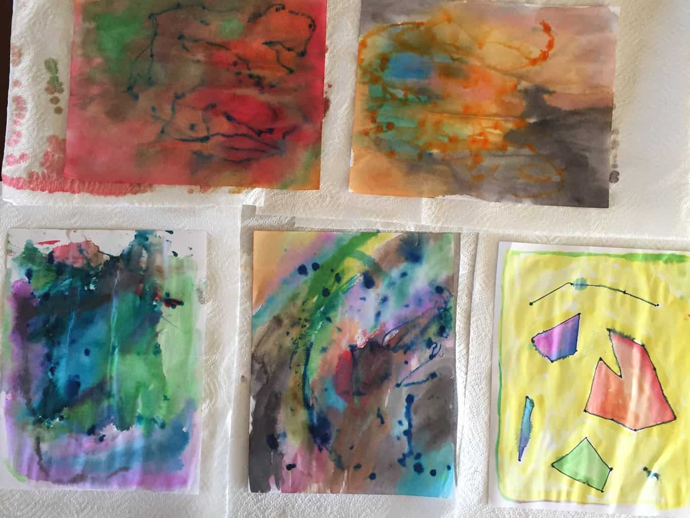 Try this toddler and preschool friendly watercolor for kids art project! Your kids will love this easy watercolor process art idea!