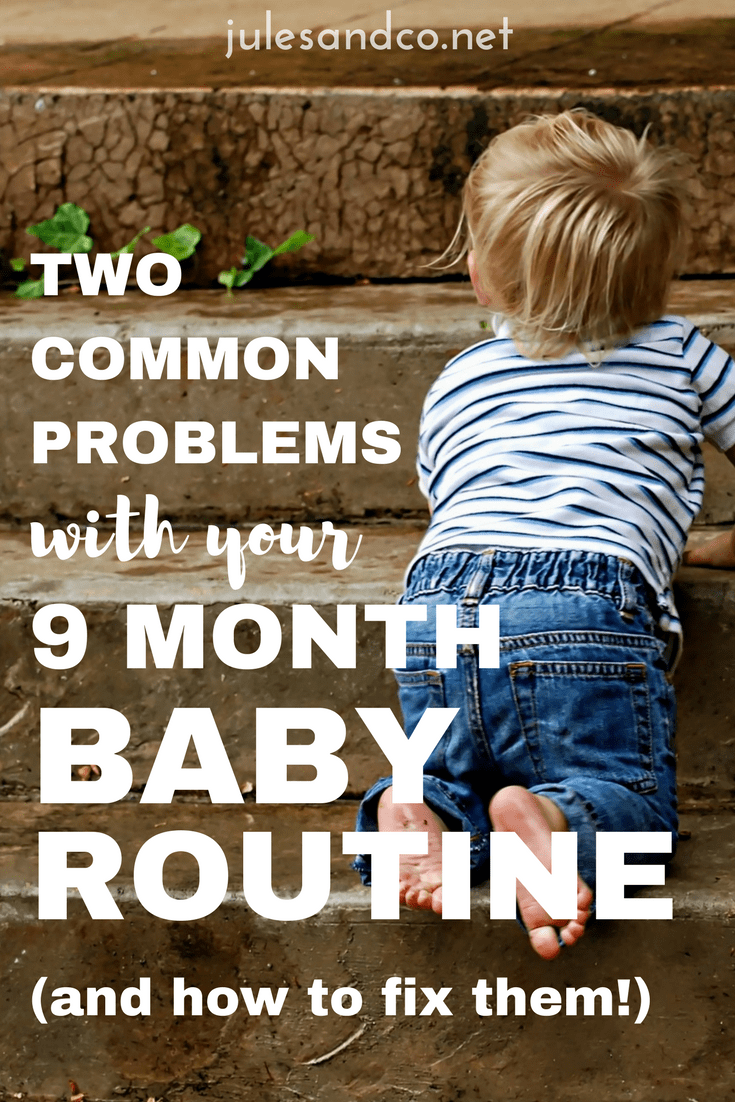 Struggling with your nine month baby schedule? Getting your baby on a schedule can be frustrating. Try these baby schedule tips to help you solve two common problems that mess up your baby's routine.