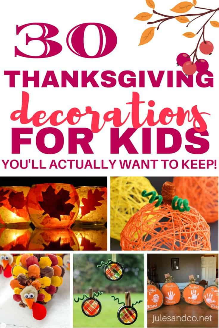 Want your kids to make a fall craft that won't end up in the trash? These autumn decorations you'll want to save year after year. You'll find the perfect keepsake fall craft with these Thanksgiving decorations for kids.