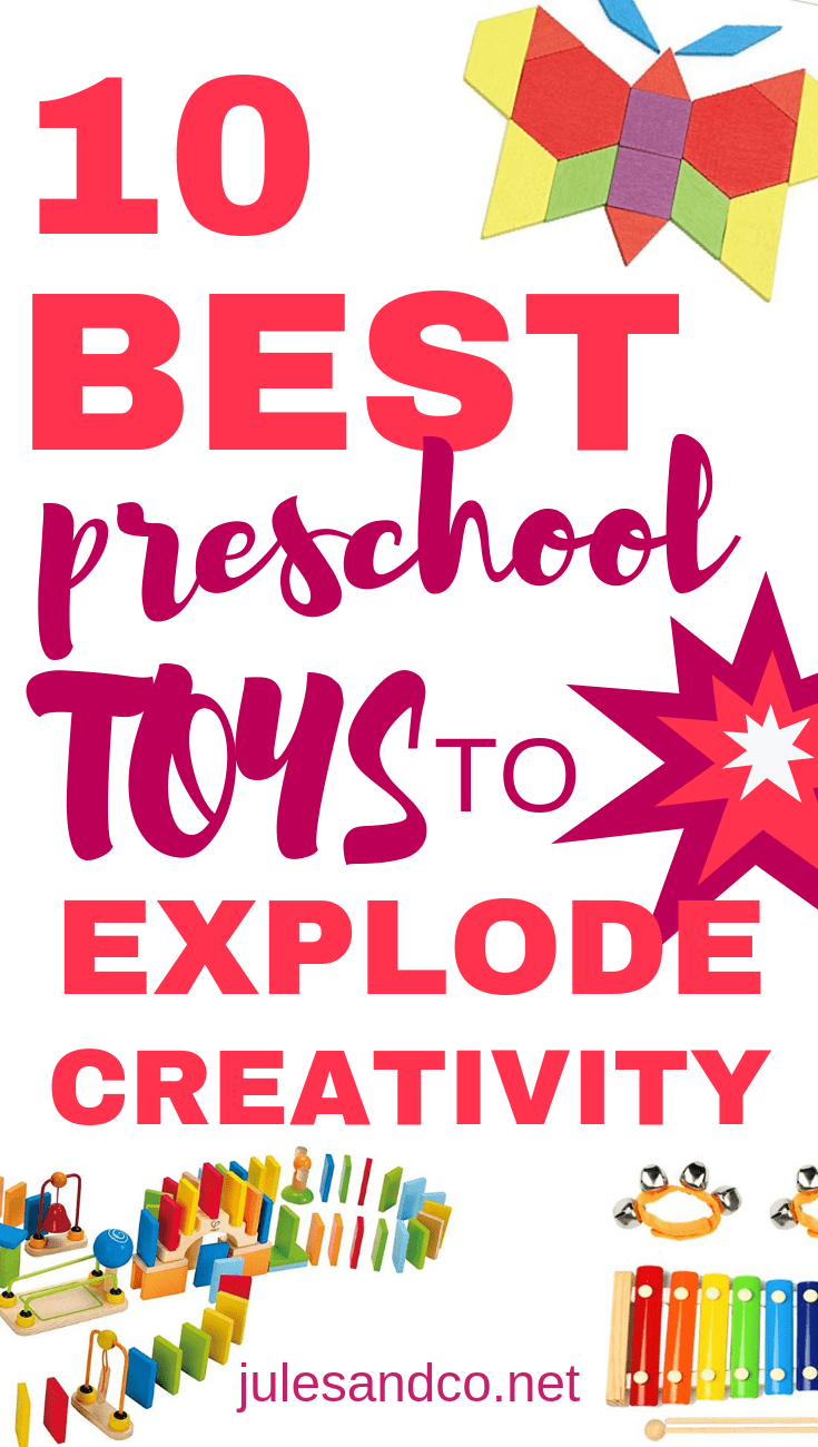 In the mind of a preschooler, toys are everything. With good reason! Preschoolers learn, grow, and explore through play. The best kind of play involves toys that allow kids to stretch their creativity muscles and imagination. I've gathered my top ten best preschool toys to help you create a play environment that will explode your child's creativity. Read on for these genius toy suggestions!