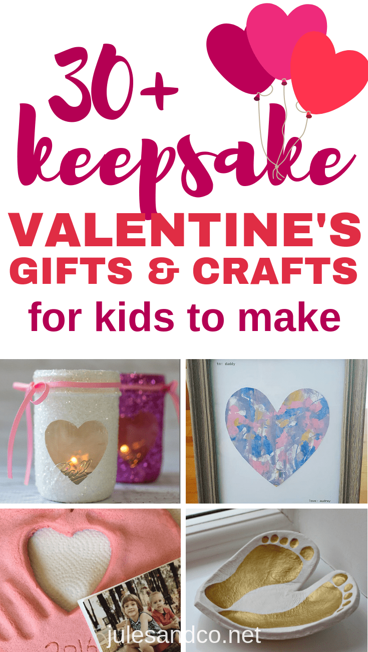 These gorgeous keepsake Valentine's Day gifts from kids are so simple. But you'll treasure them for years to come! Gather around your kitchen table, get inspired, and make your own Valentine keepsake crafts and gifts this year!