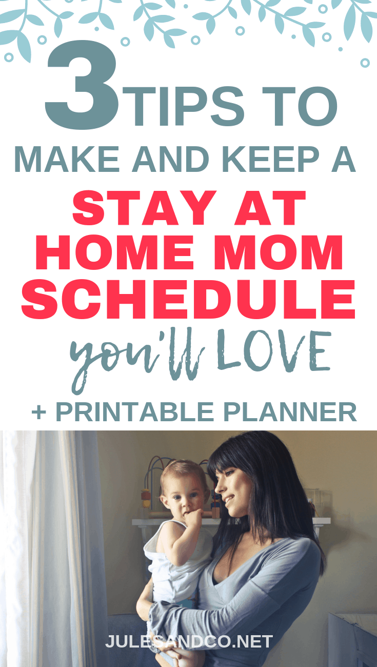 Want to love being a stay at home mom? These three simple tips will help you step into your role with confidence and create a stay at home mom schedule you'll love! Grab the free printable planner to get a head start!