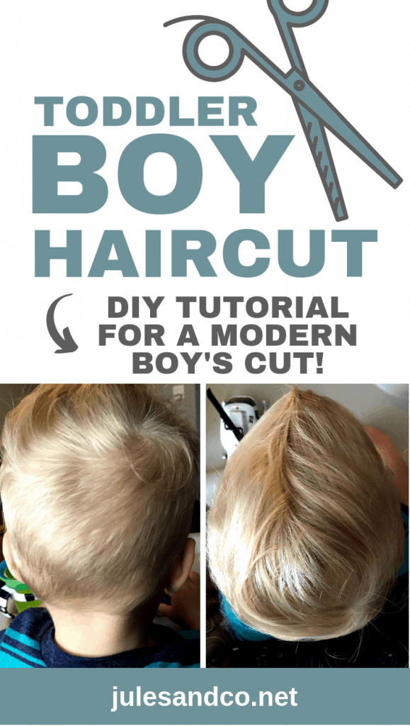 Diy Tutorial How To Cut Toddler Boy Hair At Home Jules Co