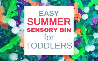 Easy Summer Sensory Bin for Toddlers