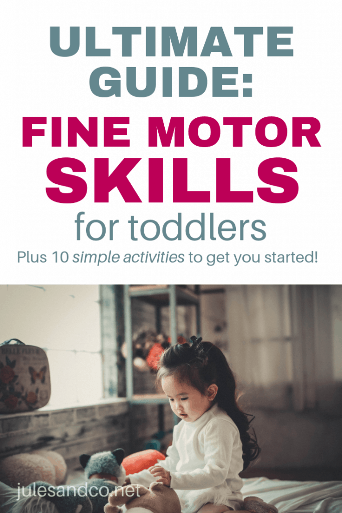 Helping build fine motor skills for toddlers doesn't have to be difficult. In fact, you're probably already doing so much to encourage fine motor growth! This ultimate guide will get you on the right track, plus get inspired by my ten favorite *crazy simple* fine motor activities for toddlers! #finemotor #toddleractivities