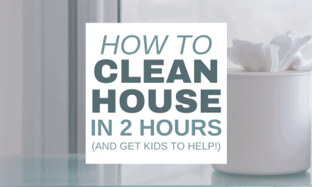 How to Clean Your House in 2 Hours (and get Kids To Help!)