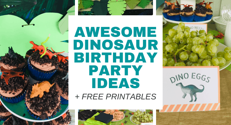 Easy DIY Dinosaur Birthday Party Ideas (Free Printable)